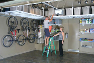 garage overhead storage & Garage Overhead Storage Systems Cary NC Shelving Cabinets ...